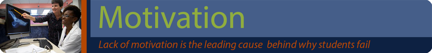 Motivation banner - Lack of motivation is the leading cause behind why students fail