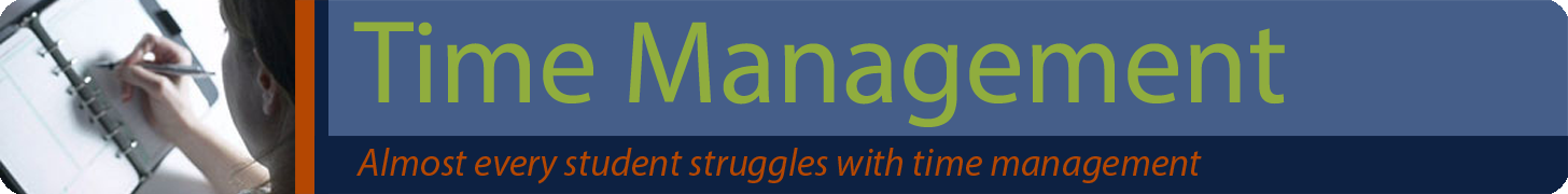Time Management Banner - Almost every student struggles with time mangement